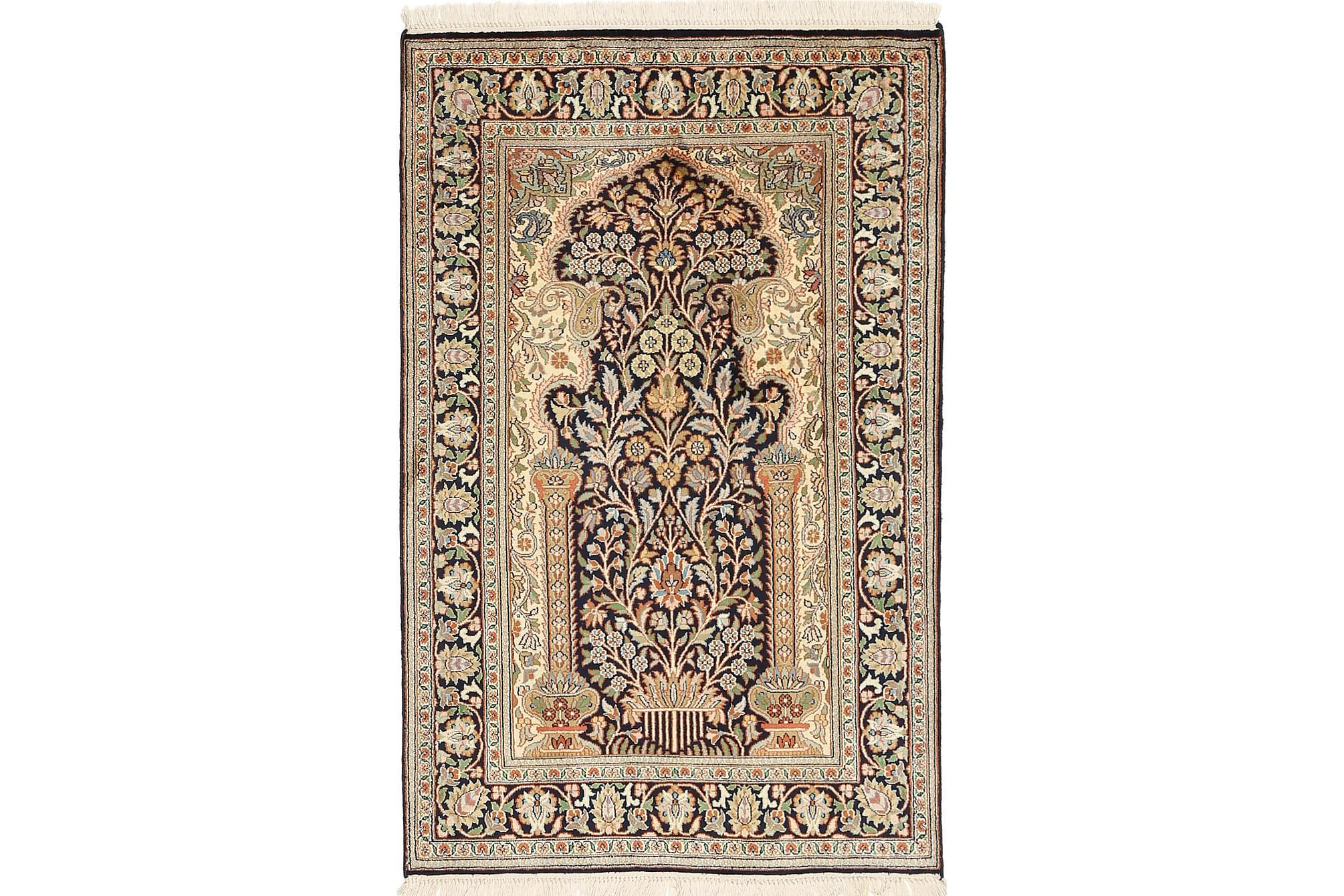 ORIENTALISK Silkesmatta Kashmir 79×125