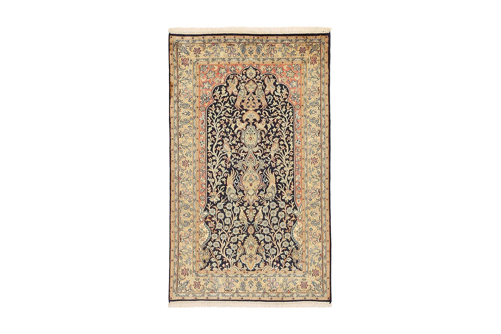 ORIENTALISK Silkesmatta Kashmir 91x152, Äkta silkesmattor