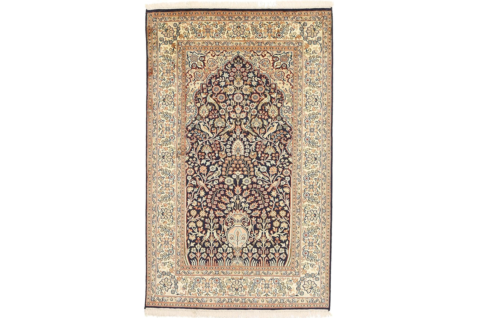 ORIENTALISK Silkesmatta Kashmir 93x152, Äkta silkesmattor