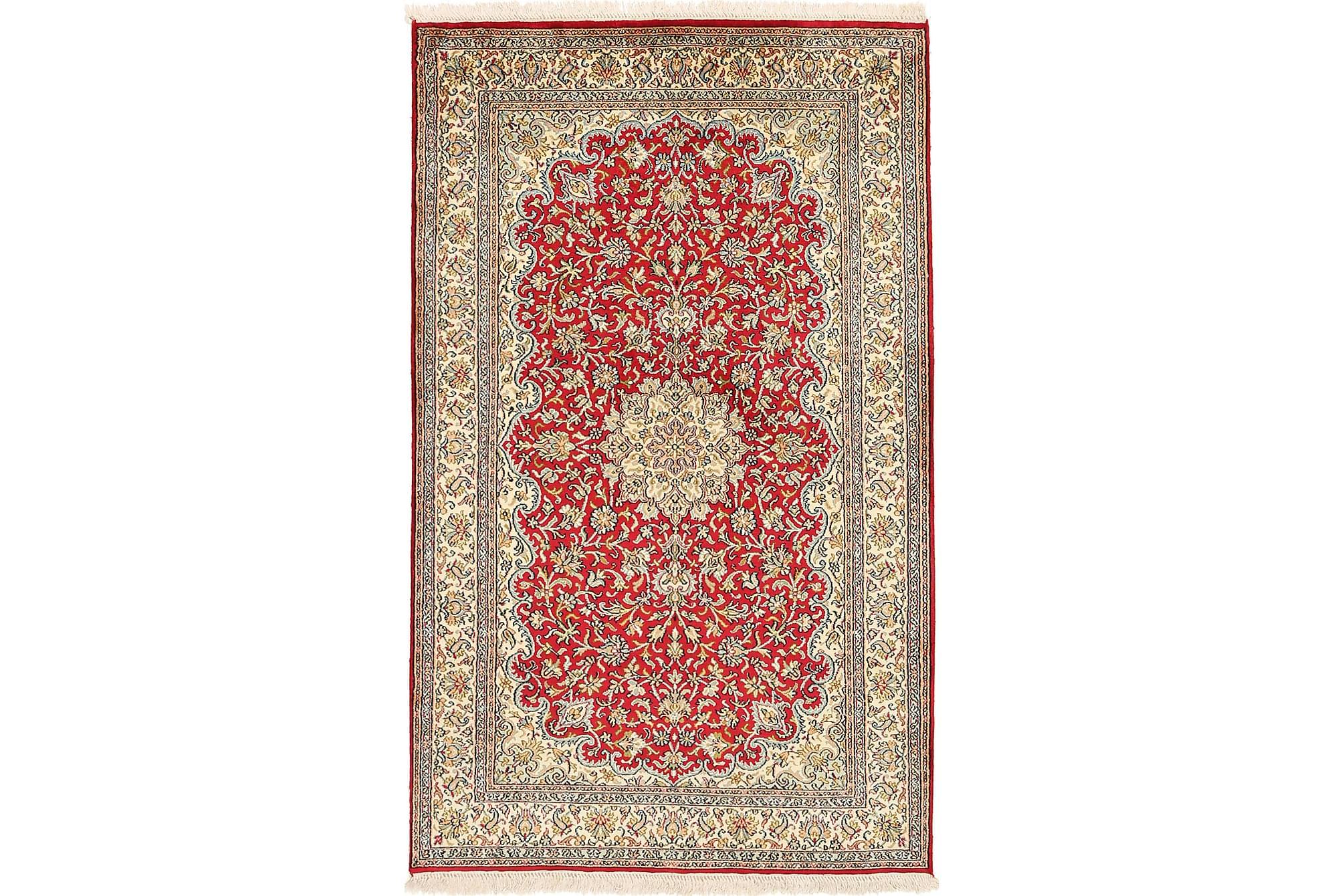 ORIENTALISK Silkesmatta Kashmir 94x156, Äkta silkesmattor
