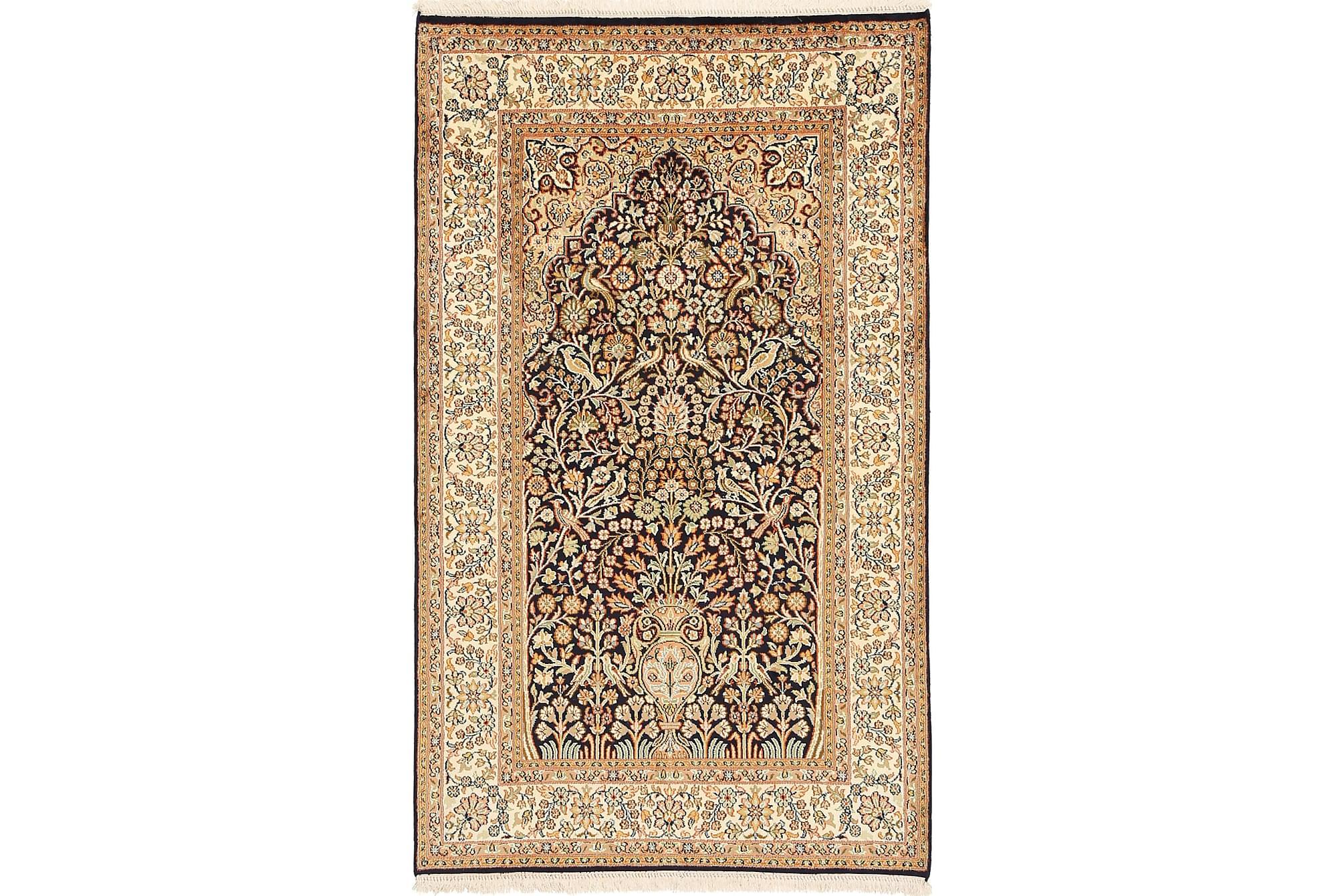 ORIENTALISK Silkesmatta Kashmir 94×157