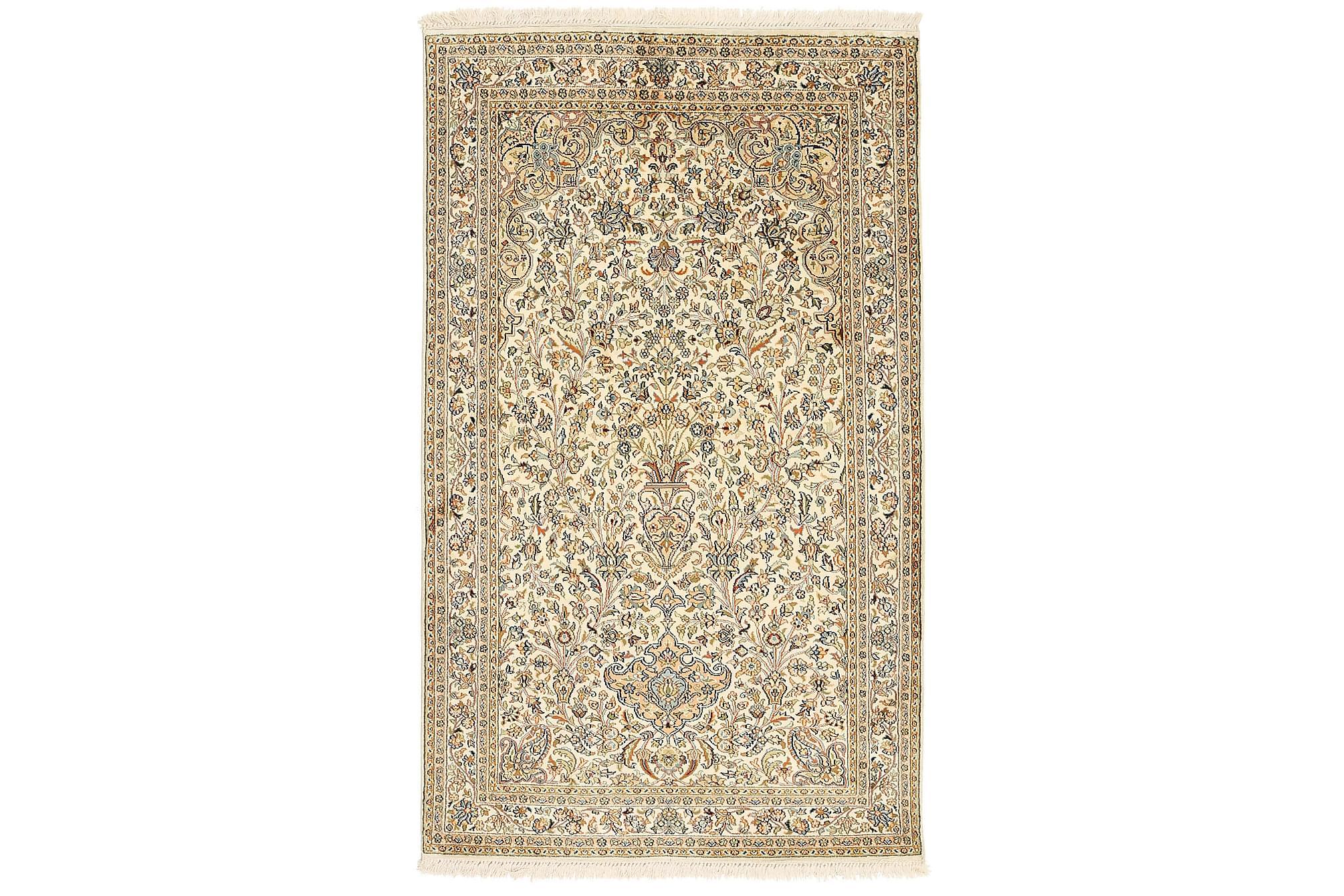 ORIENTALISK Silkesmatta Kashmir 96x158, Äkta silkesmattor