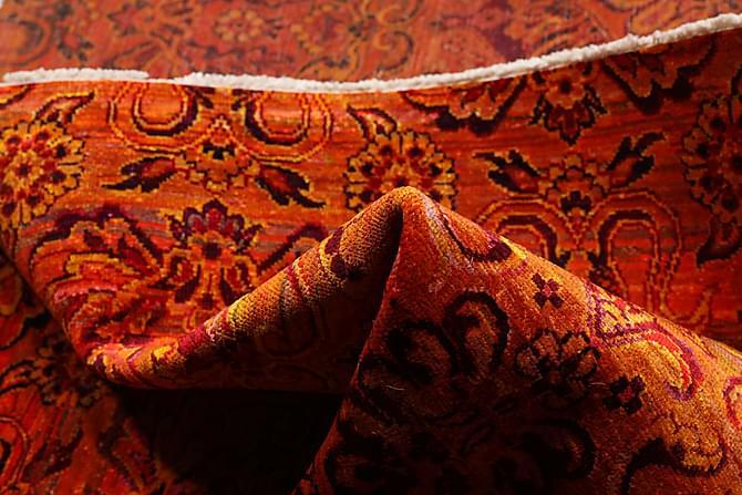 Stor Silkesmatta Sari 174x243 - Orange - Möbler & Inredning - Mattor - Äkta silkesmattor