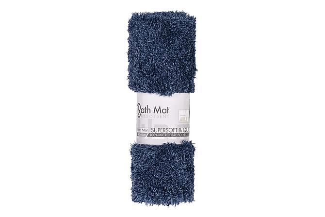 BELLANY Badrumsmatta 40x60 Blå - Möbler & Inredning - Mattor - Badrumsmattor