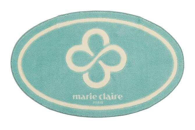MARIE CLAIRE Badmatta 66x107 Turkos/Sand - Möbler & Inredning - Mattor - Badrumsmattor