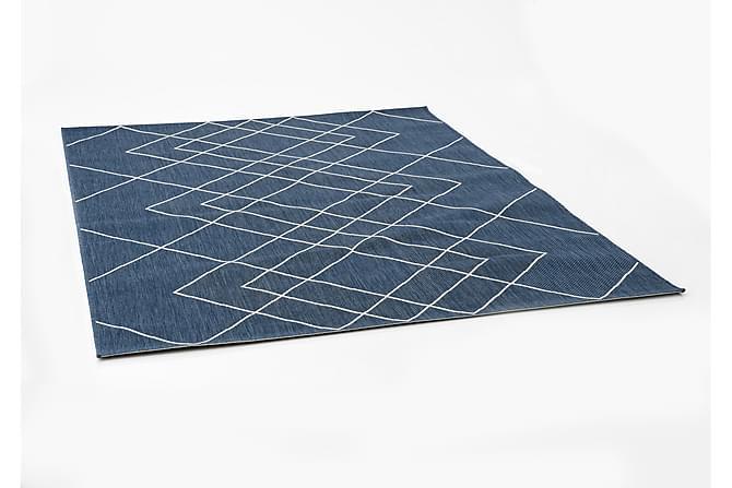 CLUNIE Utomhusmatta 160x1 cm Blå - Möbler & Inredning - Mattor - Balkongmattor & utomhusmattor