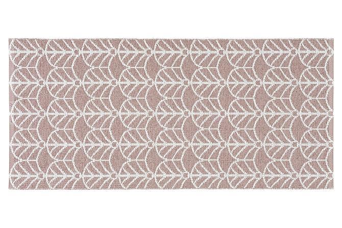 DECO Plastmatta 150x250 Vändbar PVC Rosa - Möbler & Inredning - Mattor - Balkongmattor & utomhusmattor