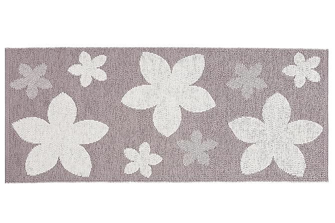 FLOWER Plastmatta 150x150 Vändbar PVC Ljung - Möbler & Inredning - Mattor - Balkongmattor & utomhusmattor