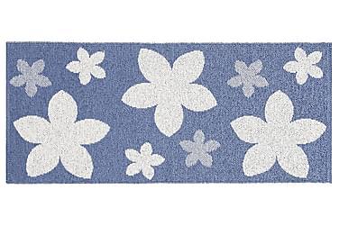 FLOWER Plastmatta 70x150 Vändbar PVC Blå