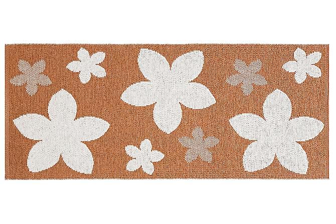 FLOWER Plastmatta 70x50 Vändbar PVC Rost - Möbler & Inredning - Mattor - Balkongmattor & utomhusmattor