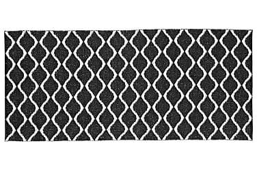 WAVE Plastmatta 70x150 Vändbar PVC Svart