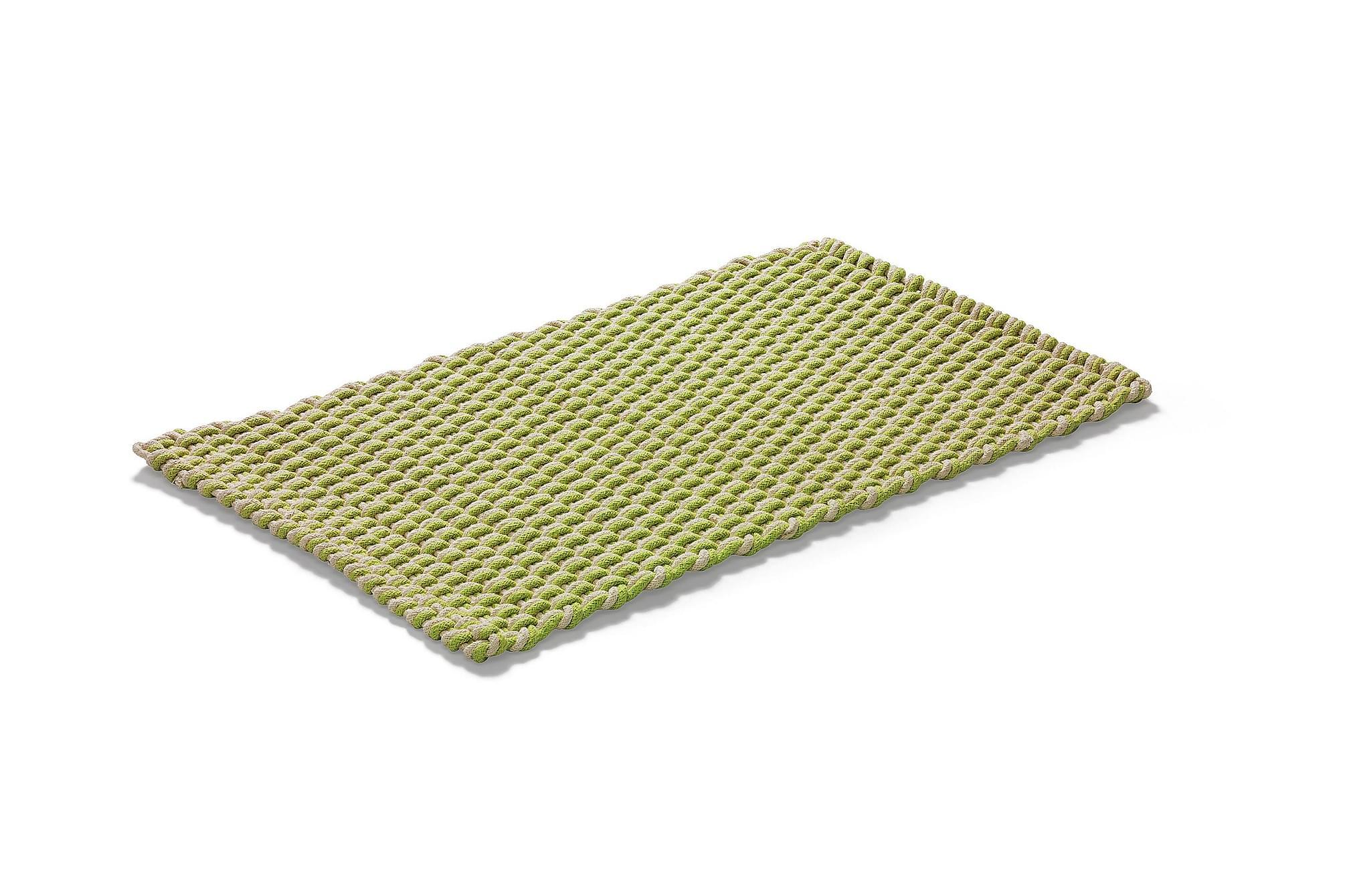 ROPE Bomullsmatta 70×120 Natur/Grön