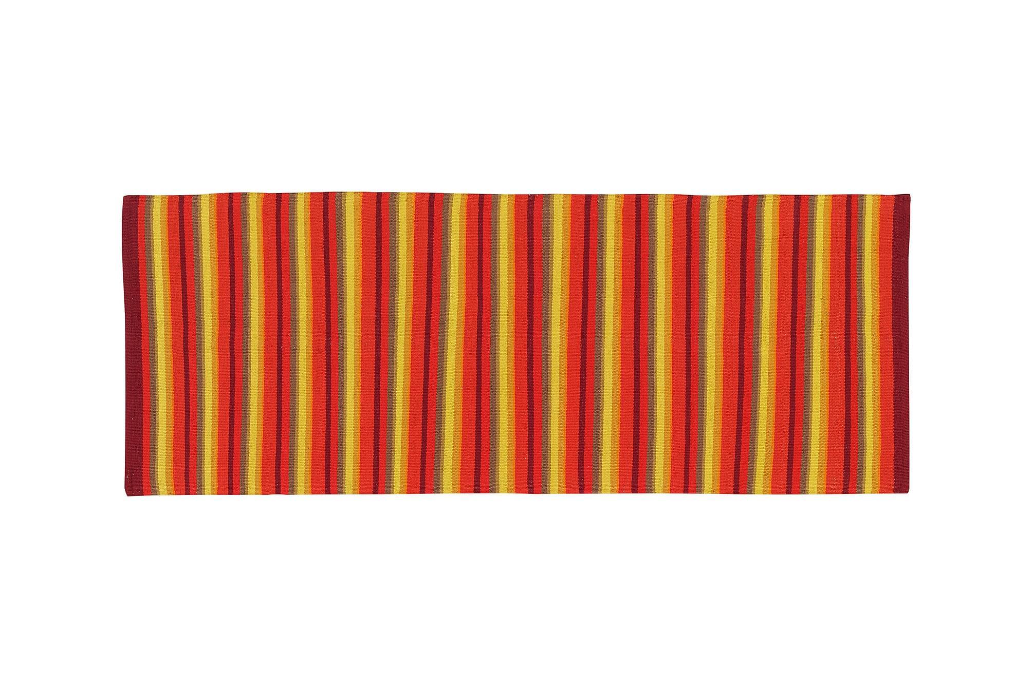 STRIPE Bomullsmatta 80×200 Orange