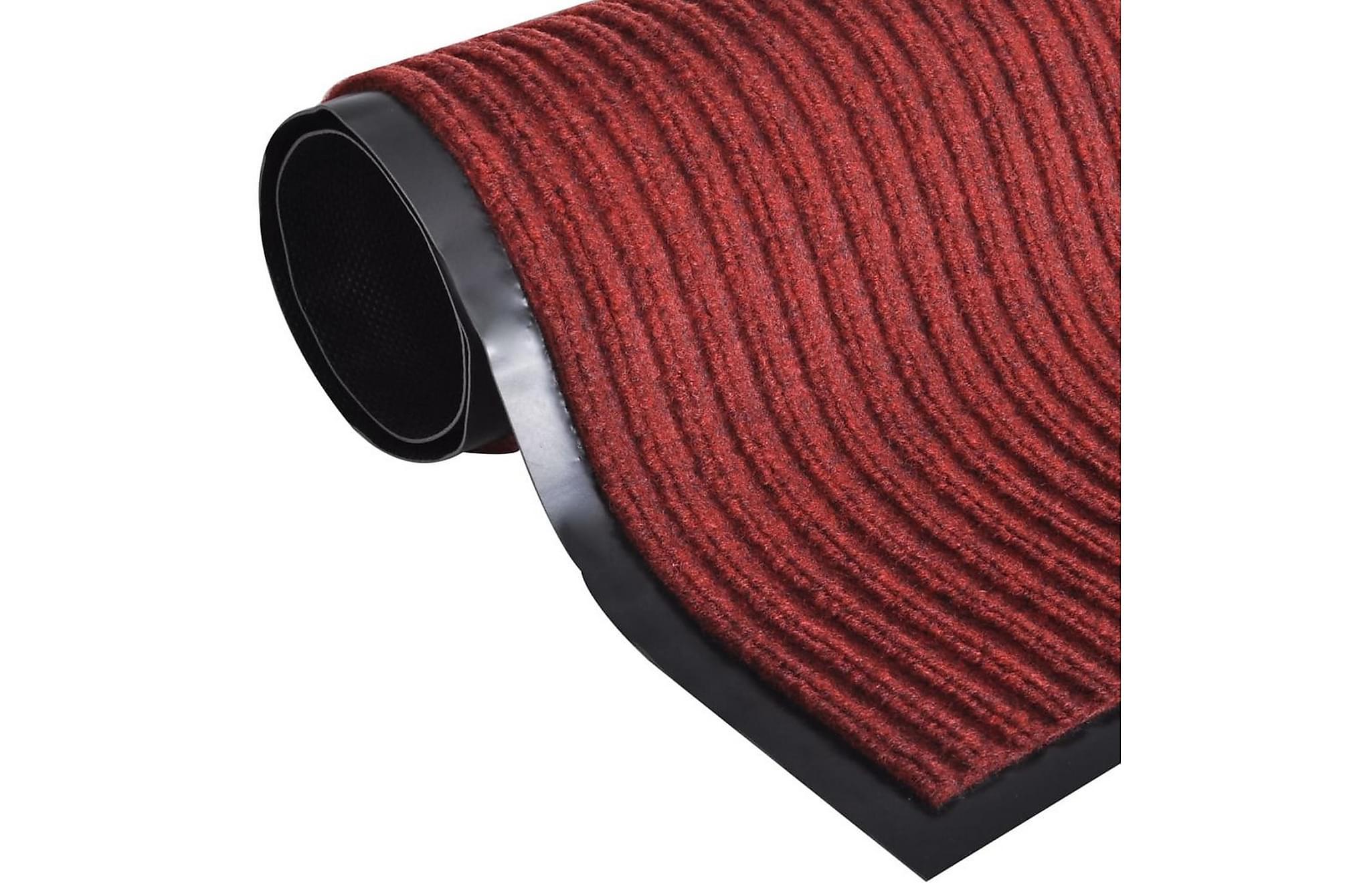 Dörrmatta PVC Röd 120 x 180 cm, Dörrmattor & entrémattor