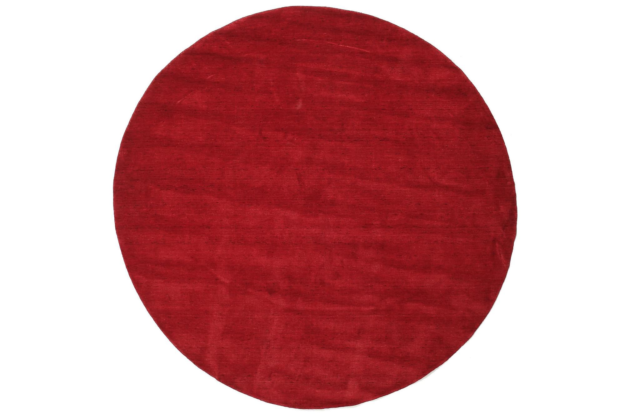 HANDLOOM Matta Stor Rund 250 Röd, Enfärgade mattor