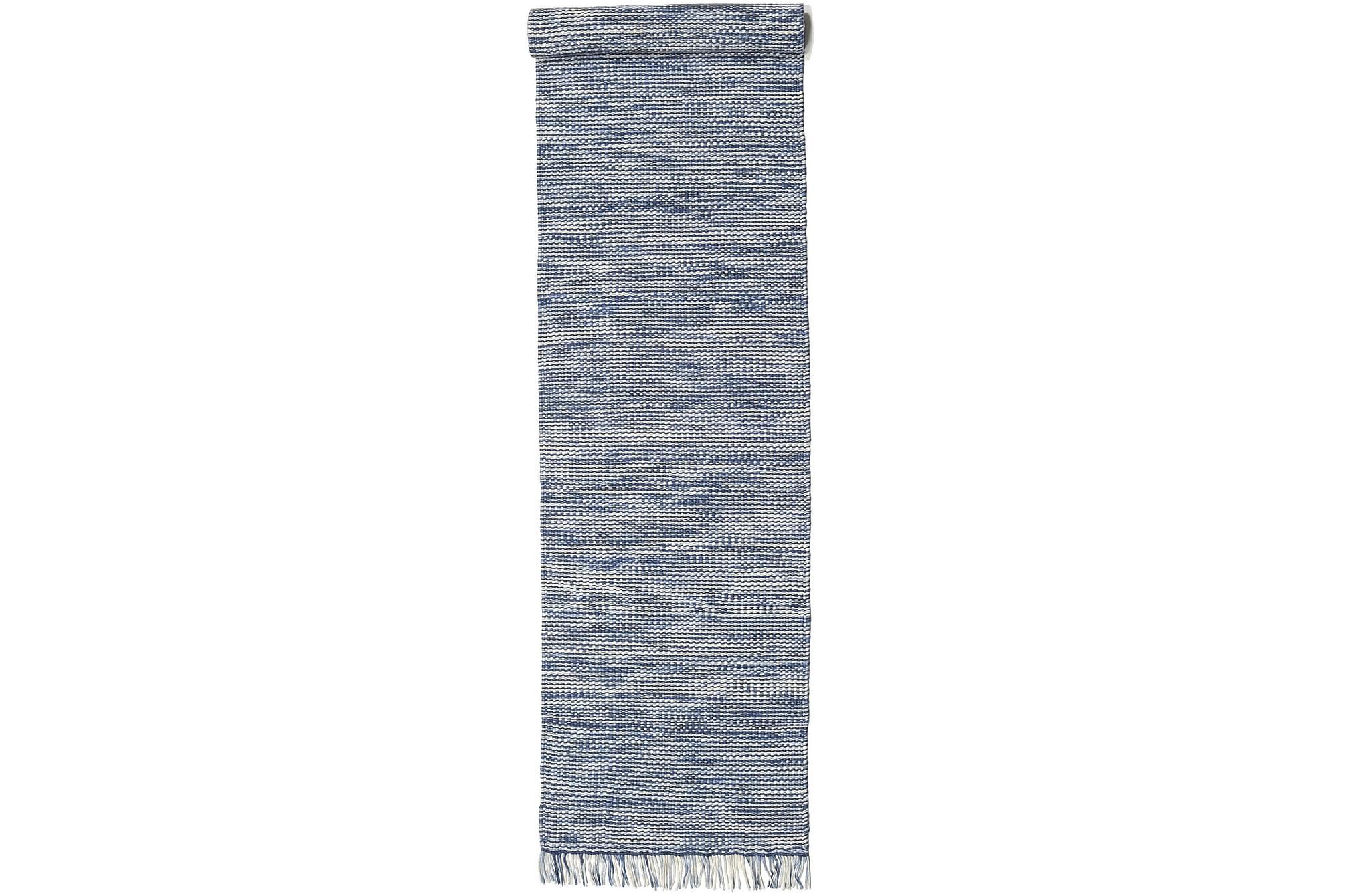 WILMA – Blå mix matta 80×350 Modern