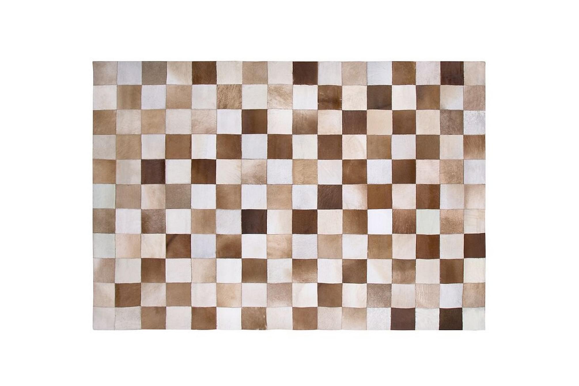 ARYIAH Matta 160x230 cm Läder Brun, Fällar & skinnmattor