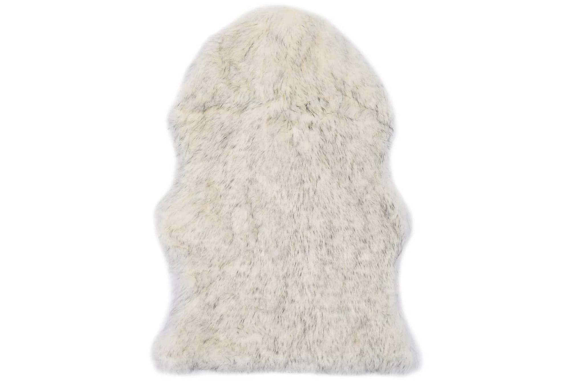 Matta 60×90 cm konstgjort fårskinn grå melange