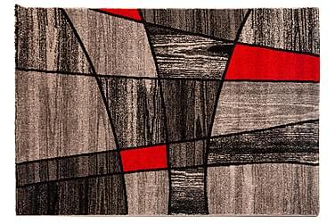 AKKUZULU Matta 200x290 Grå/Röd