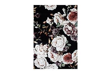DAYNA Friezematta 133x190 Roses Svart