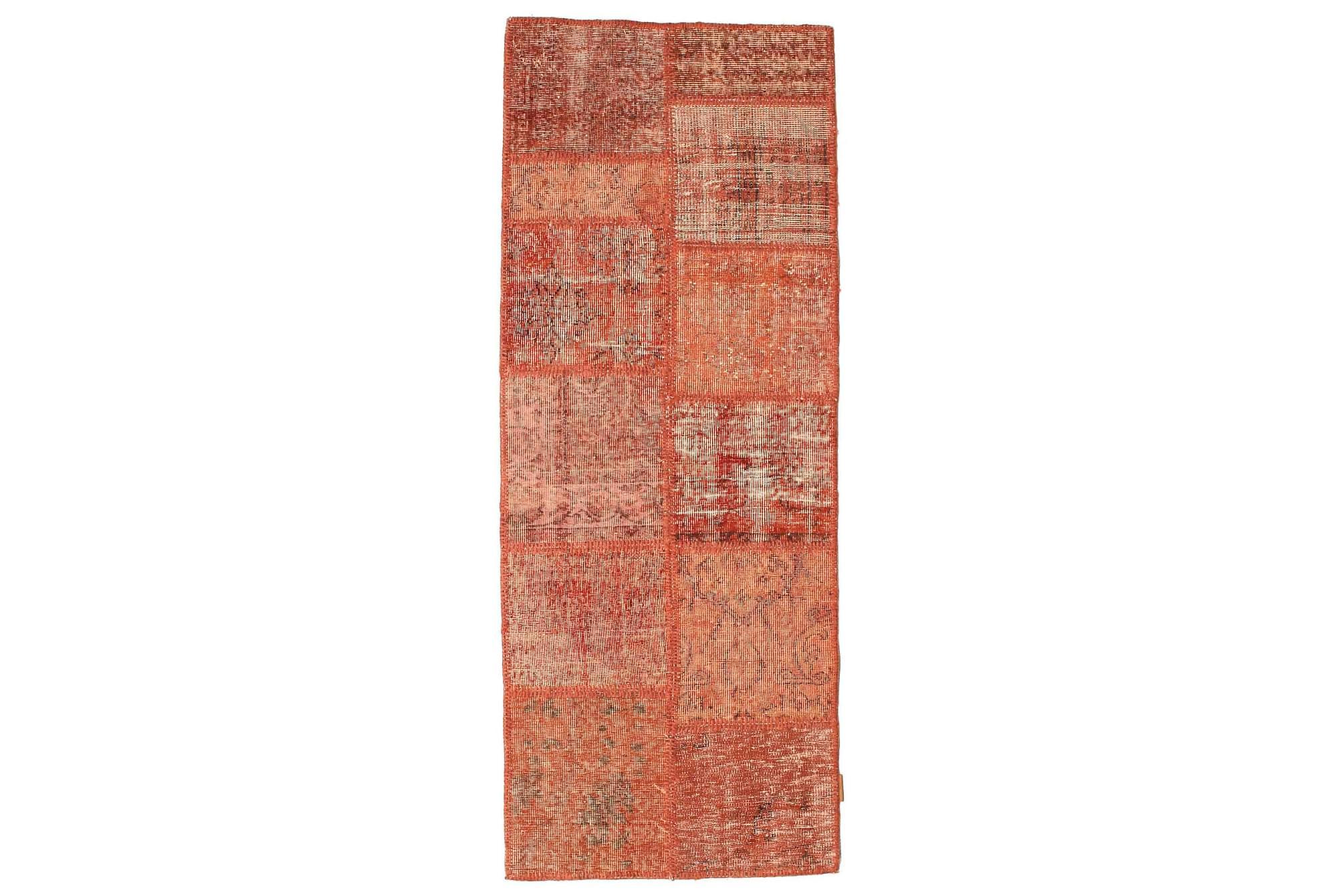 AGADIR Gångmatta 78×202 Stor Modern Brun/Röd