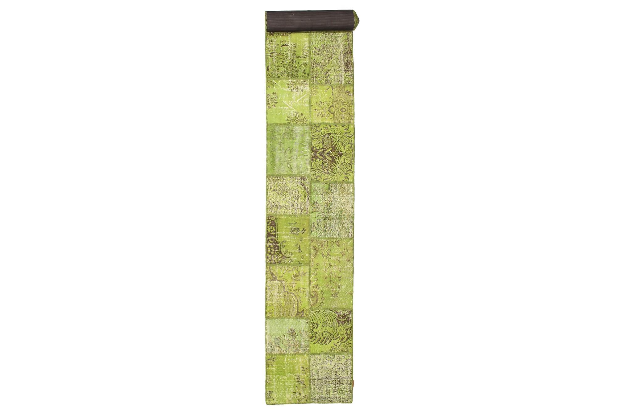 AGADIR Gångmatta 78×600 Stor Modern Grön