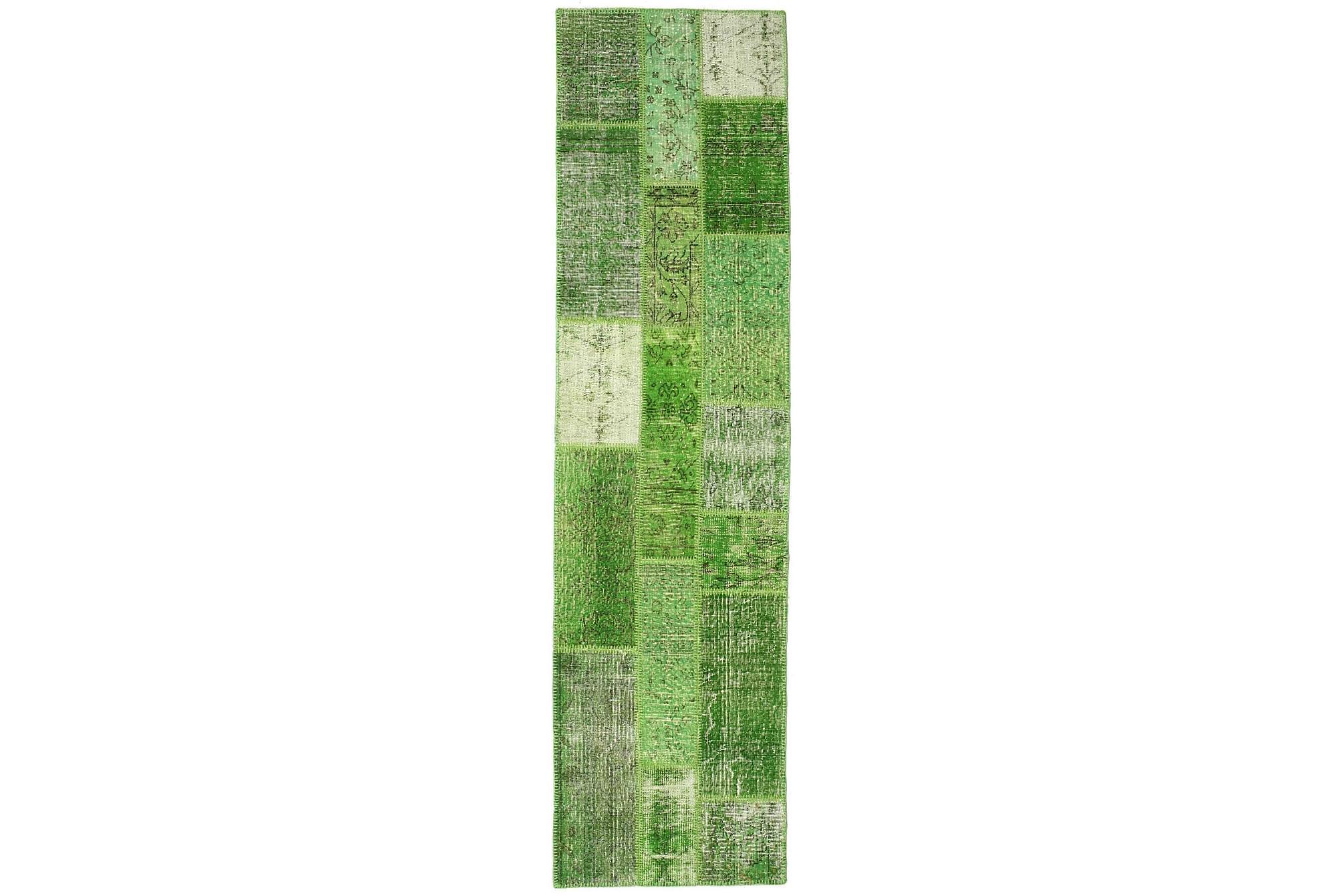 AGADIR Gångmatta 79x300 Stor Modern Grön, Gångmattor