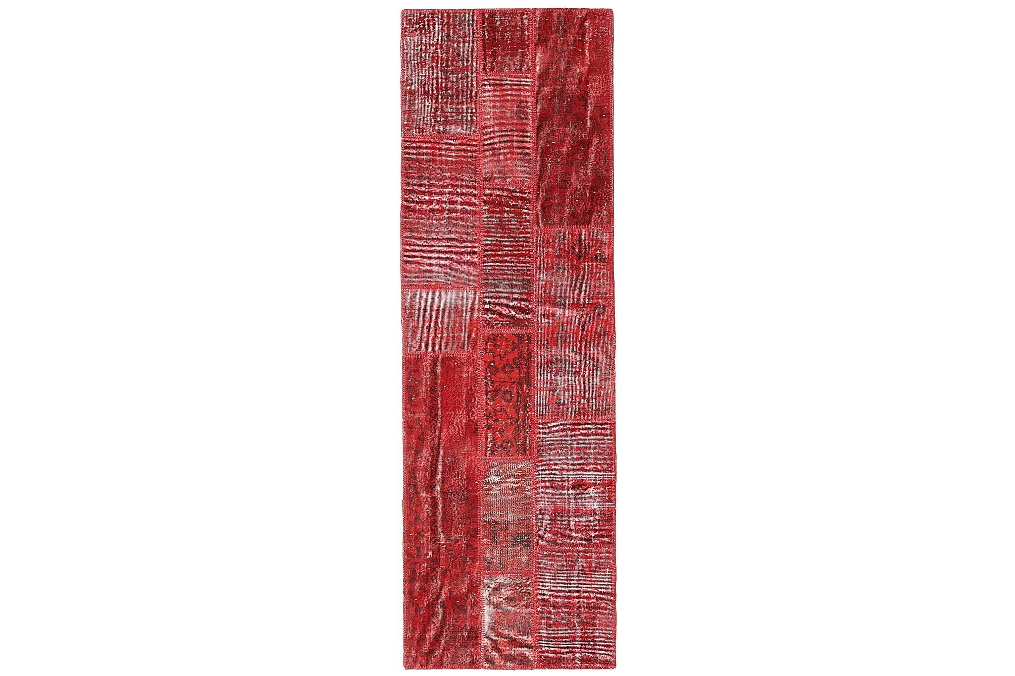 AGADIR Gångmatta 80x250 Stor Modern Röd, Gångmattor