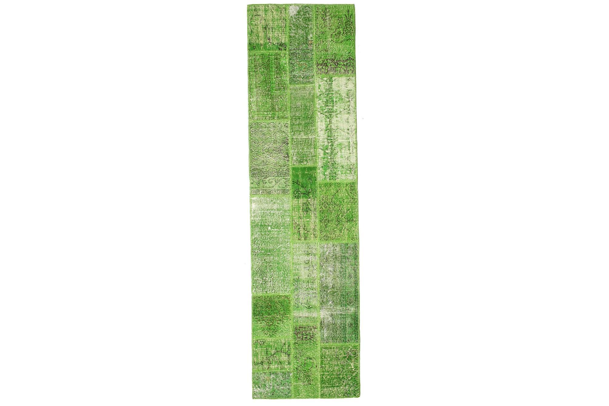 AGADIR Gångmatta 81×299 Stor Modern Grön