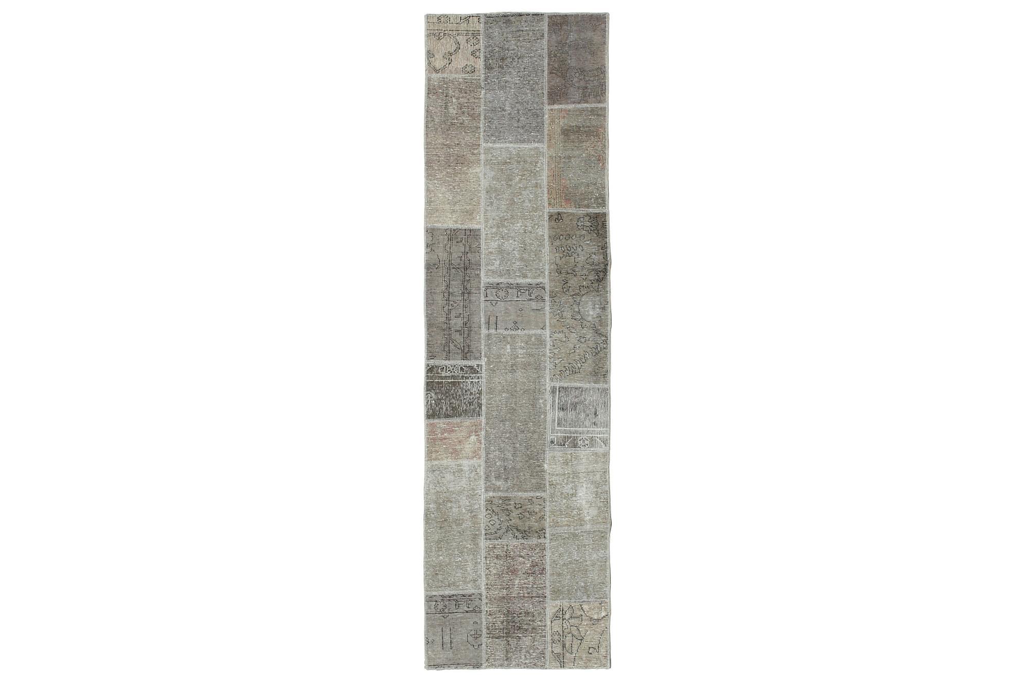 AGADIR Gångmatta 82×298 Stor Modern Beige/Grå