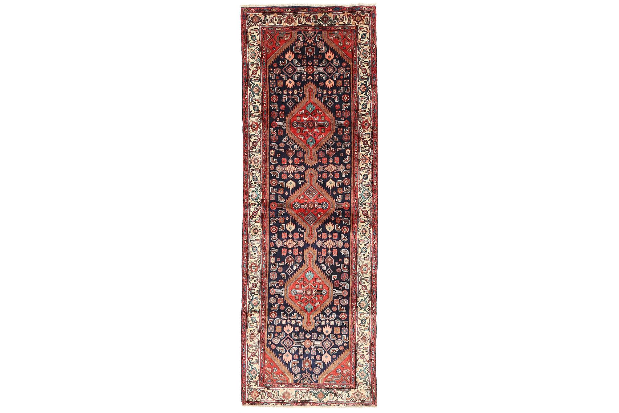 HAMADAN Gångmatta 102×305 Persisk Flerfärgad