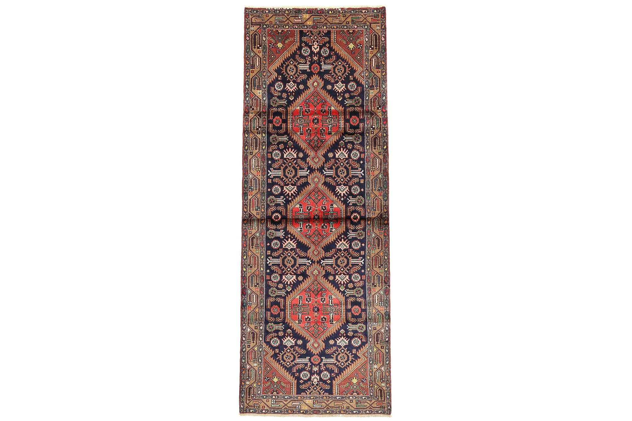 HAMADAN Gångmatta 110×300 Persisk Flerfärgad
