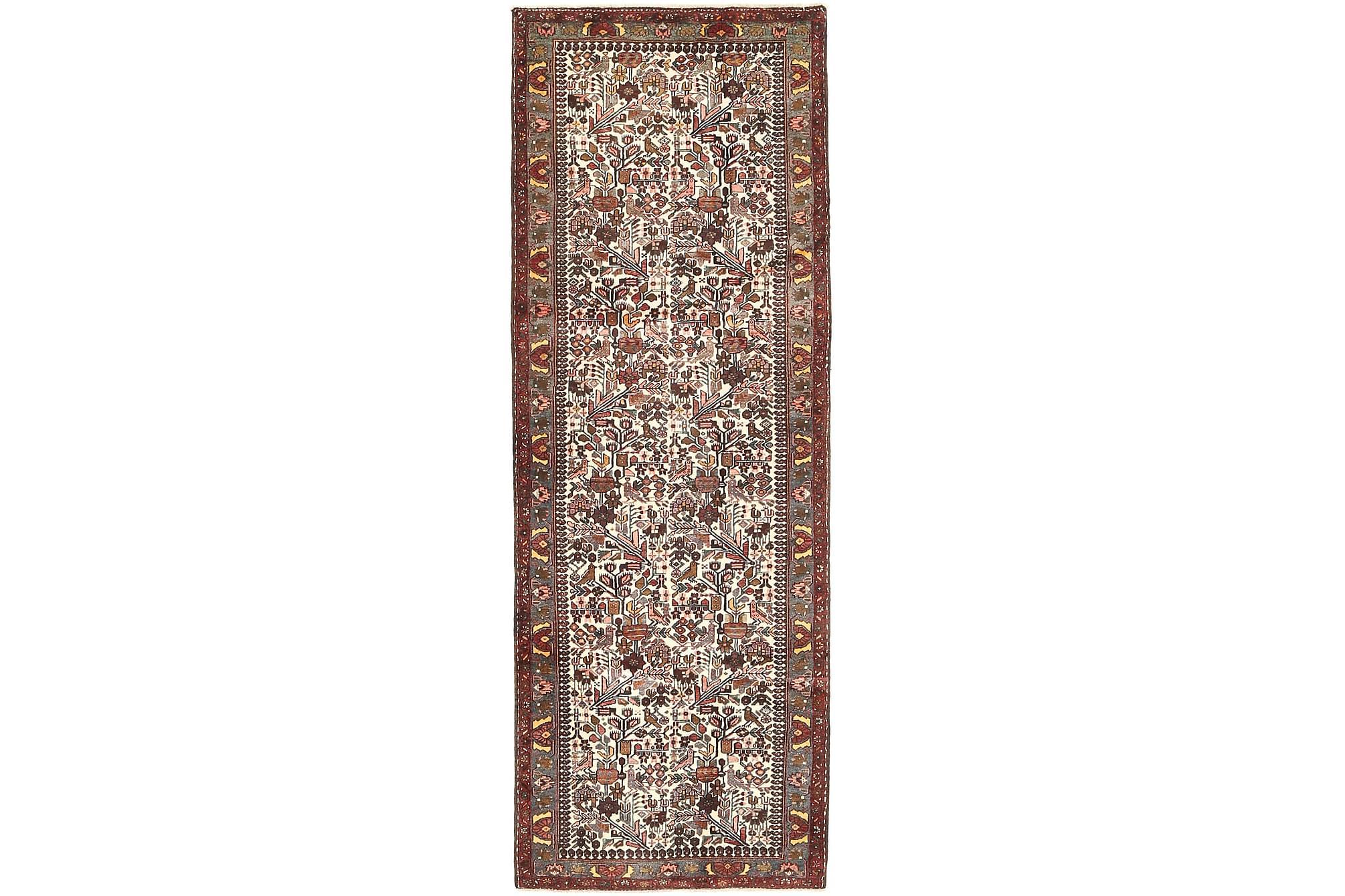 HAMADAN Gångmatta 110×305 Persisk Brun