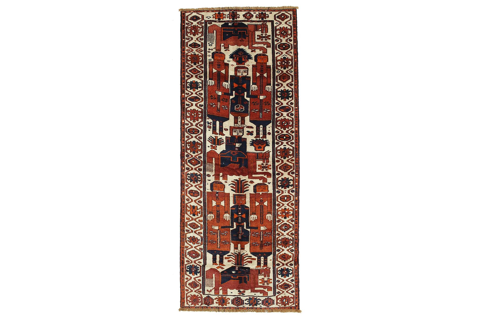 LORI Gångmatta 145×370 Persisk Brun