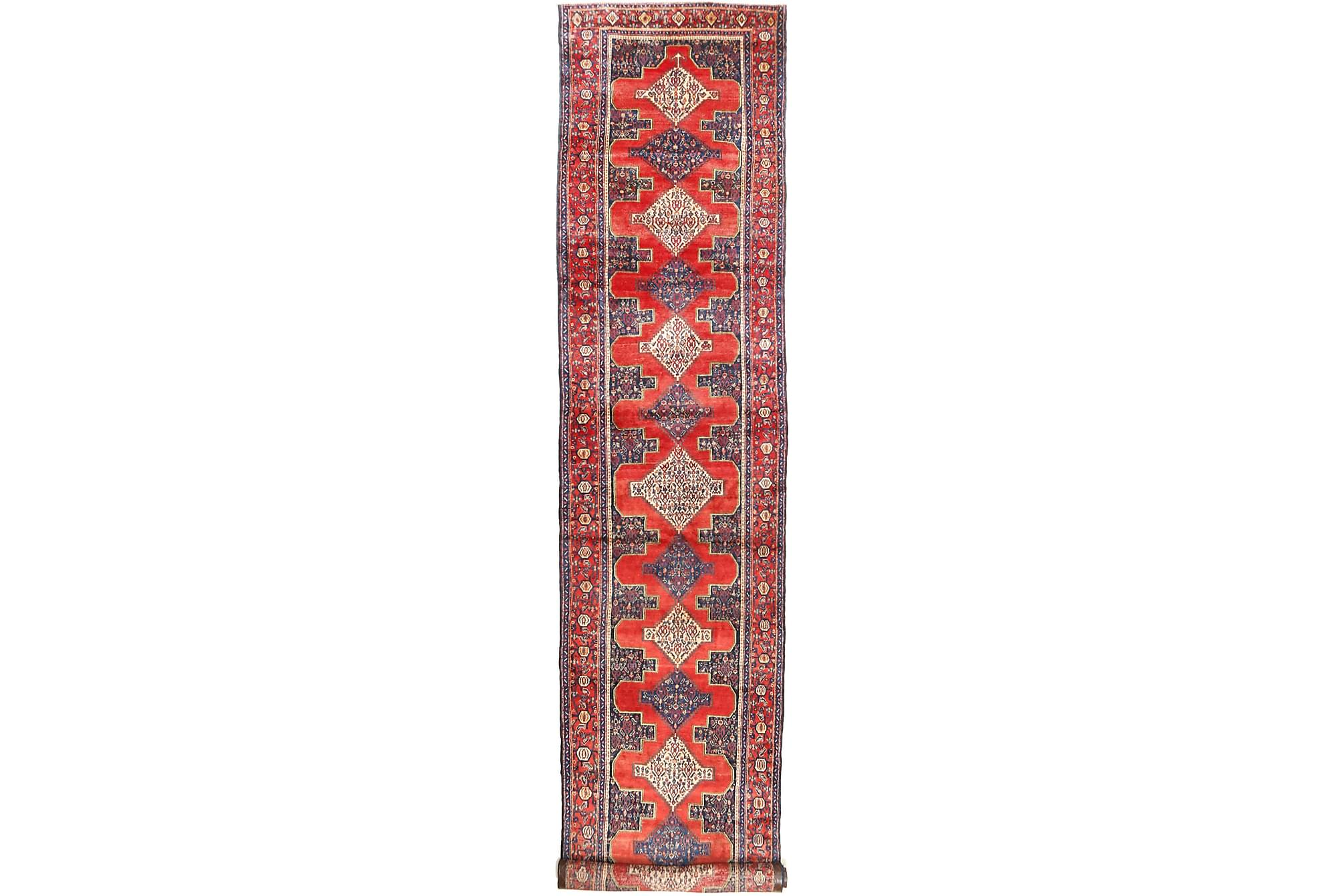 SENNEH Gångmatta 120×574 Persisk Röd