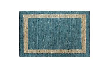 Handgjord jutematta blå 160x230