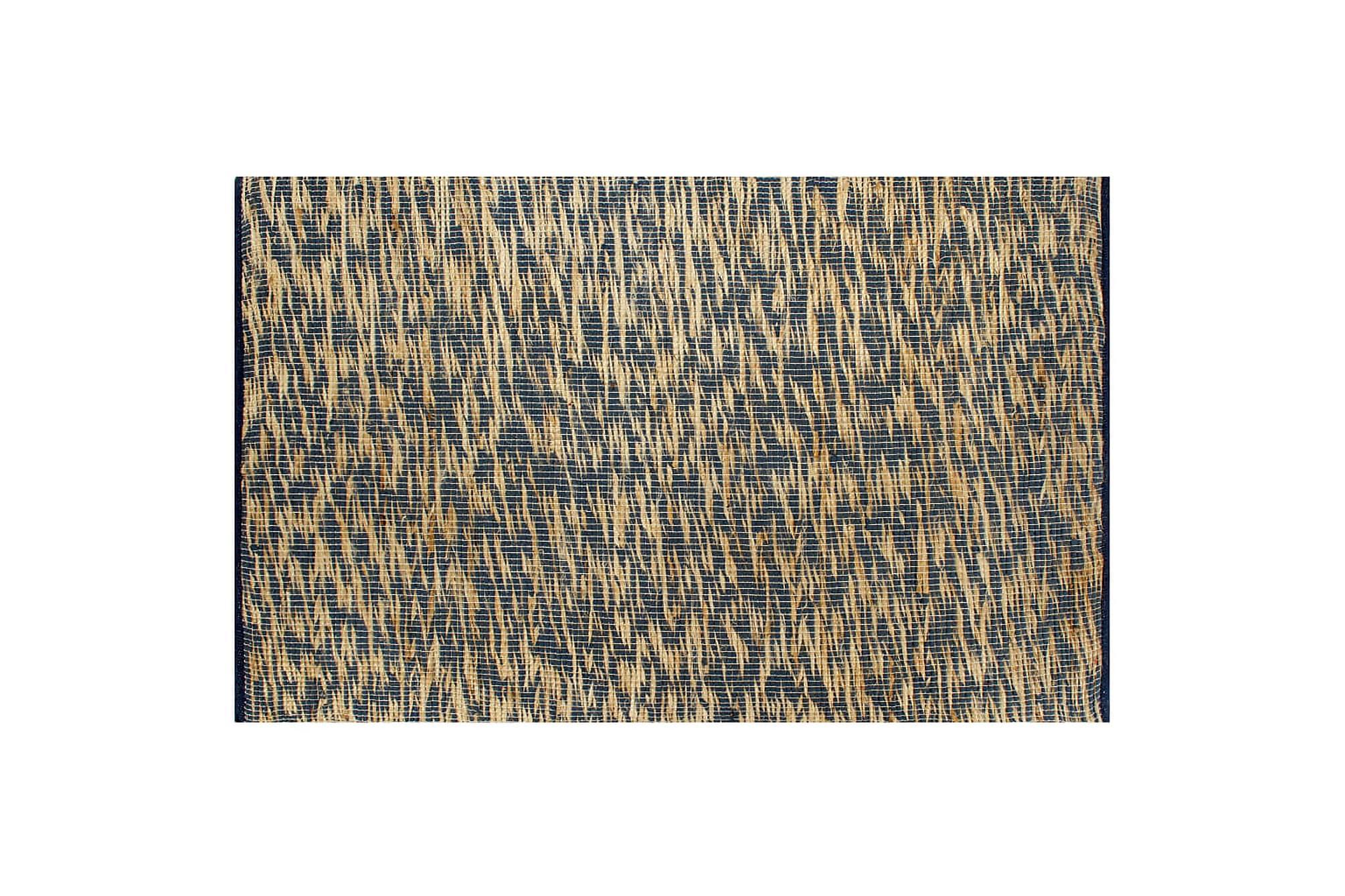 Handgjord jutematta blå och naturlig 80x160 cm, Handvävda mattor
