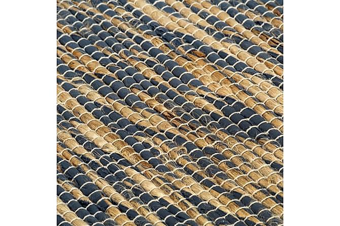 Handgjord jutematta blå och naturlig 80x160 cm - Blå - Möbler & Inredning - Mattor - Handvävda mattor