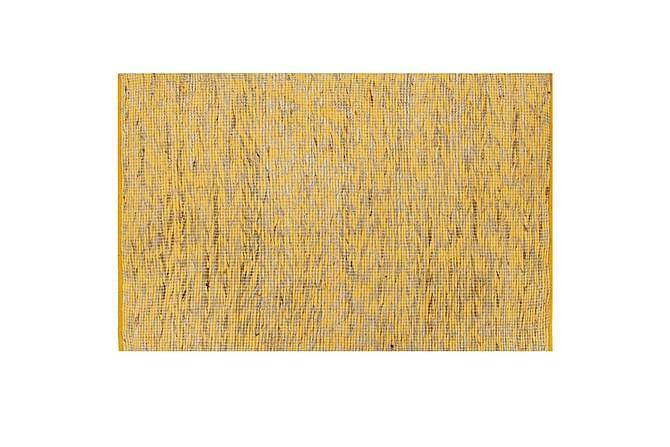 Handgjord jutematta gul och naturlig 120x180 - Inomhus - Mattor - Handvävda mattor