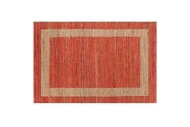 Handgjord jutematta röd 80x160