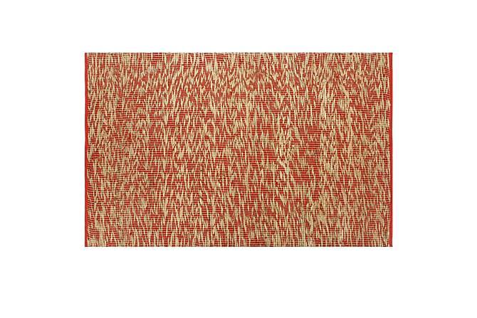 Handgjord jutematta röd och naturlig 80x160 - Inomhus - Mattor - Handvävda mattor