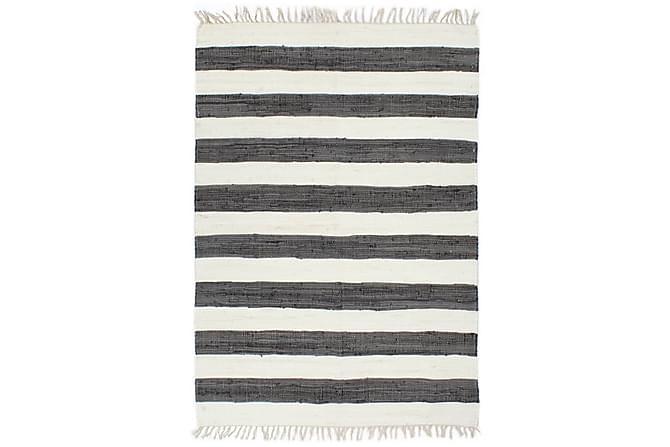 Handvävd matta Chindi bomull 120x170 antracit och vit - Inomhus - Mattor - Handvävda mattor
