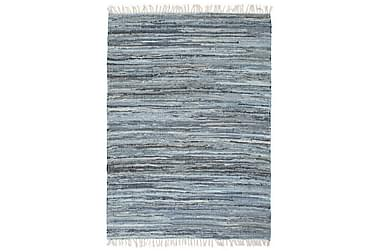 Handvävd matta Chindi denim 200x290 blå
