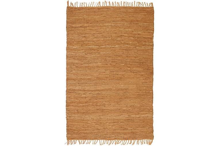 Handvävd matta Chindi läder 120x170 cm ljusbrun - Brun - Möbler & Inredning - Mattor - Handvävda mattor