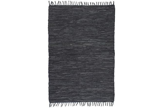 JOSHI Handvävd Matta 160x230 Chindi Läder Grå - Inomhus - Mattor - Handvävda mattor
