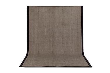 SORIA Matta 160x230 Mörkbrun/Mörkgrå