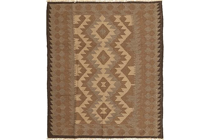 Orientalisk Kelimmatta 153x186 - Brun - Inomhus - Mattor - Kelimmattor