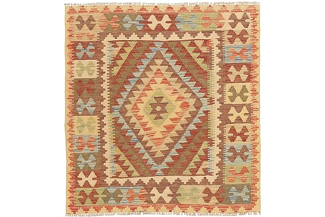 Orientalisk Kelimmatta Afghan 97x105 - Flerfärgad - Inomhus - Mattor - Kelimmattor
