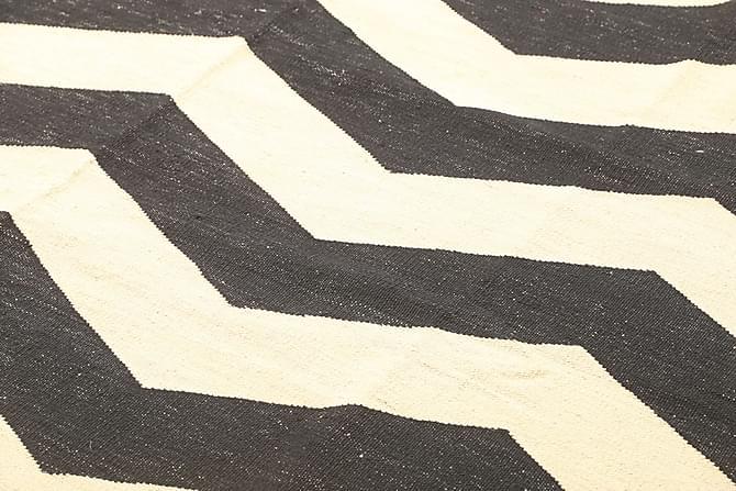 Stor Kelimmatta Moderna 186x223 - Svart|Vit - Inomhus - Mattor - Kelimmattor