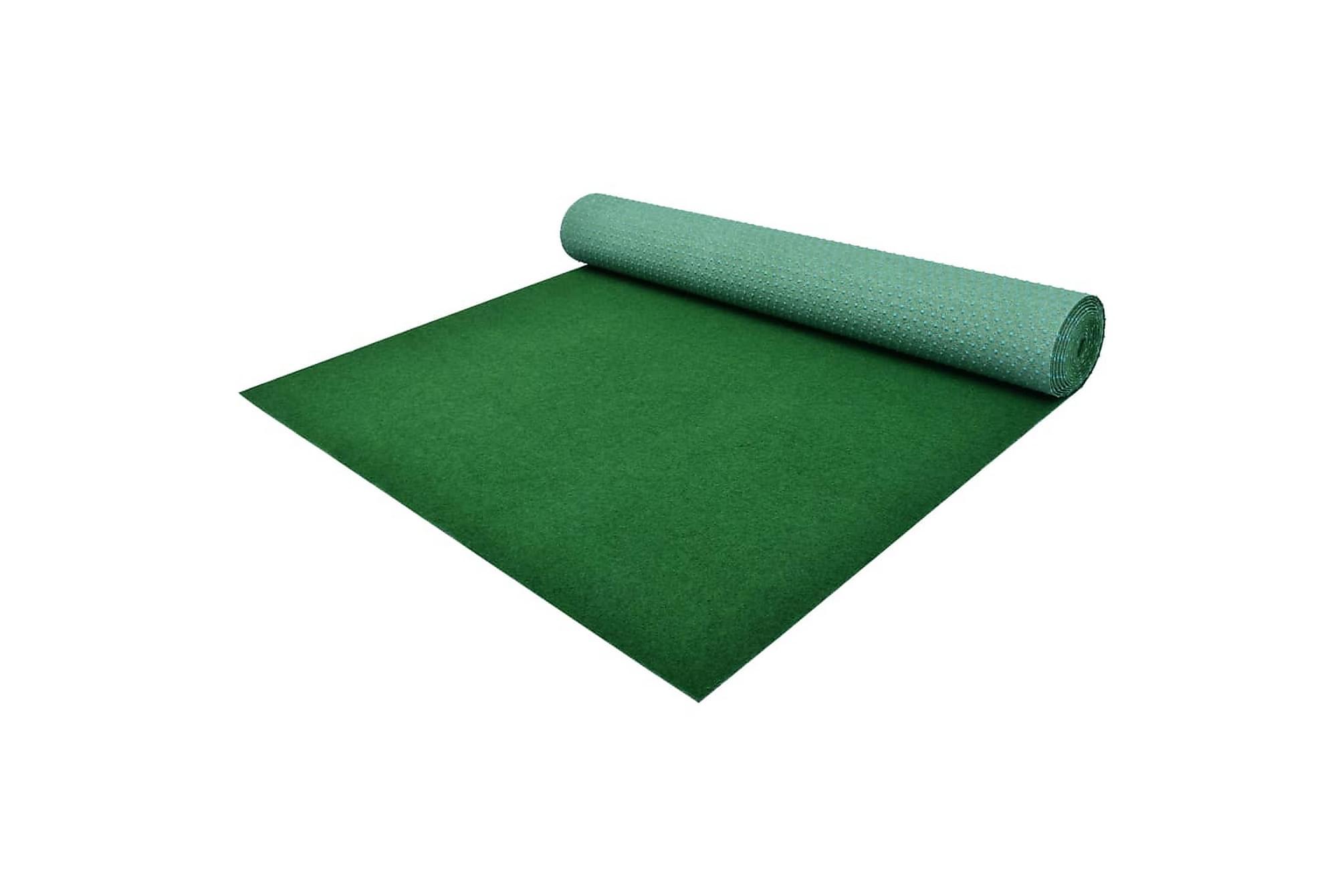 Konstgräs med halkskydd PP 3x1,33 m grön, Nålfiltsmattor & konstgräsmattor